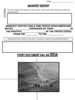 Manifest Destiny - Worksheet by The History LifeSaver   TpT