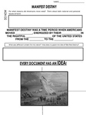 Manifest Destiny - Worksheet