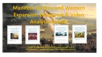 Manifest Destiny and Western Expansion Webquest and Video