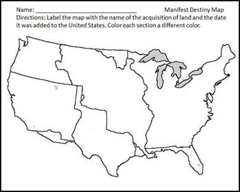 Manifest Destiny and the Acquisition of Land Differentiated Instruction Lesson