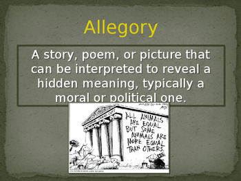 Manifest Destiny through Allegory Presentation
