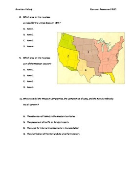 Manifest Destiny through Civil War assessment