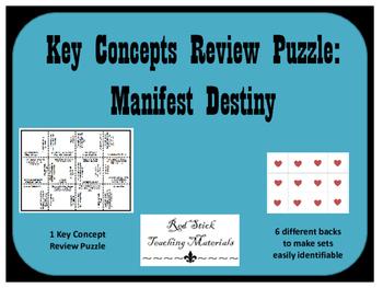 Manifest Destiny Key Concepts Puzzle
