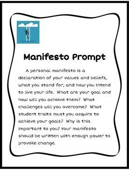 Manifesto Paragraph Writing