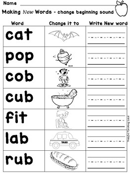 make new words from letters phoneme substitution changing letter sounds to make new 543