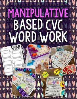 Manipulative Based Spelling Words Bundle (CVC Words)