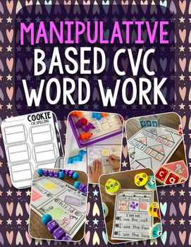 Manipulative Based Word Work Bundle (CVC Words)