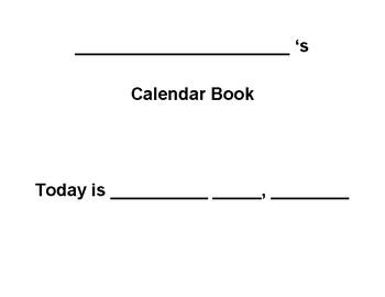 Manipulative Interactive Calendar Book