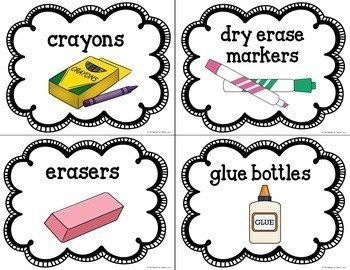 Classroom Supply Labels