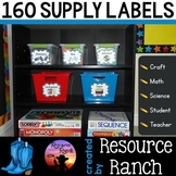Classroom Supply Labels Back to School