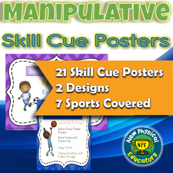 Manipulative Skill Cue Posters and Visuals (Bundle)