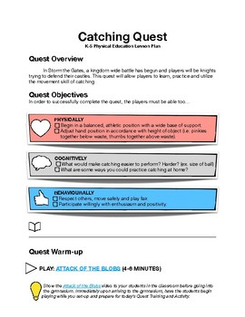 Manipulative Skills Lesson Plan for Catching