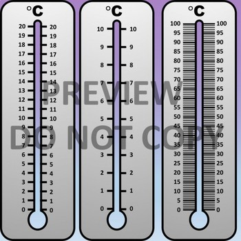 Manipulative Thermometers Clipart