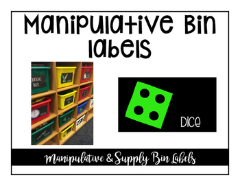 Manipulative and Supply Bin Labels