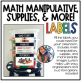 Math Manipulative (& more) Labels!
