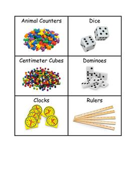 Manipulatives Labels