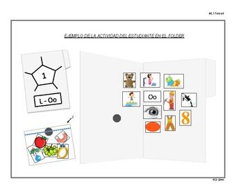 B1 (a) Manipulativos  de Letras 1 Letras A, E, I, O, U, M.