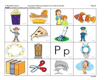 B1 (b) Manipulativos  de Letras 2 Letras S, P, L, T, D, N.