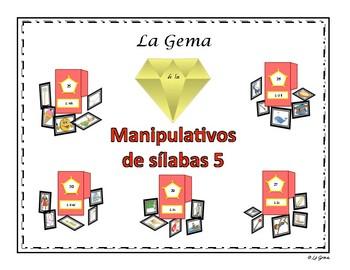 B2 (d) Manipulativos  de Silabas 5 letras H, LL, Z, Y, X, K-W