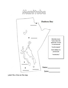 Manitoba Cities Map