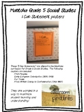 Manitoba Grade 5 Social Studies - I Can Statement Posters