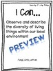 Manitoba Grade 6 Science - I Can Statement Posters