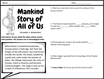 Mankind Story of All of Us: Episode 4 (Warriors)