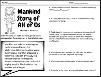 Mankind Story of All of Us: Episode 9 (Pioneers)