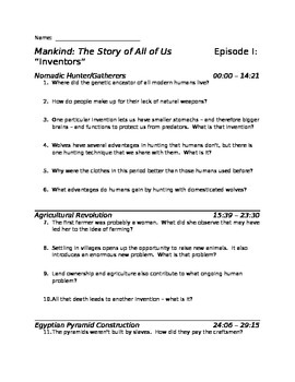 Mankind: The Story of All of Us Complete Series Video Guides