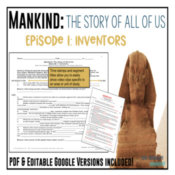 Mankind: The Story of All of Us Episode 1: Inventors fill-in-the-blank Worksheet