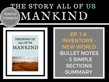 Mankind The Story of all of US  Episodes 1-6 Bundle History Channel