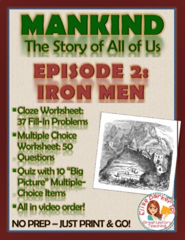Mankind the Story of All of Us Episode 2 Worksheets and Tests