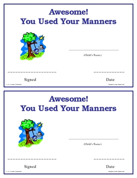 Manner Certificates