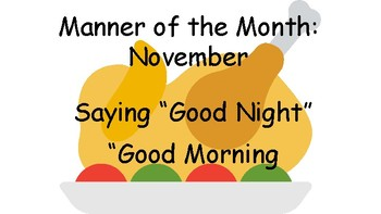 Manner of the Month