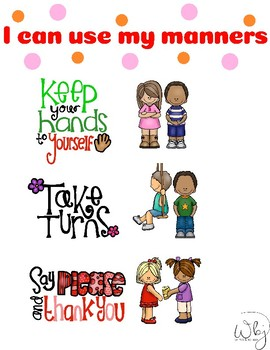 Mannerism and Behavioral Chart for Toddlers and Preschoolers