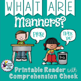 #funtimesinthesunpk2 Manners - Printable Reader with Comprehension