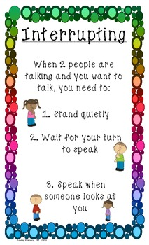 Manners - 3 Social Skill Posters