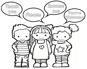 manners coloring pages Manners Coloring Page by AlyssaRapp | Teachers Pay Teachers manners coloring pages