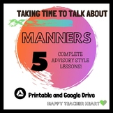 Manners Advisory Lessons: Paper or Google Drive