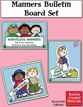 Manners Bulletin Board Set by Karen's Kids (Digital Download)