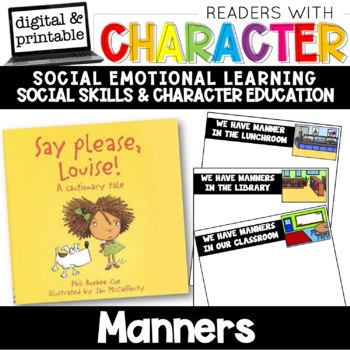 Manners - Character Education | Social Emotional Learning SEL