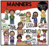 Manners Clip Art Bundle {Educlips Clipart}