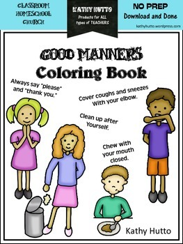 Manners Coloring Book