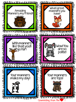 Manners Coupons, Notes, or Awards- Fun Freebie!