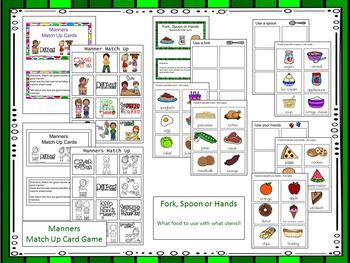 Manners - File Folder Games