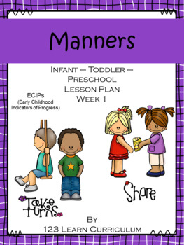 Manners Lesson Plan