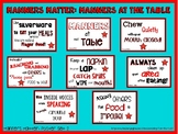 Manners Matter: Manners at the Table  Manners Matter Poster set 2