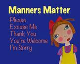 Manners Matter   Mini-Poster   [Citizenship]