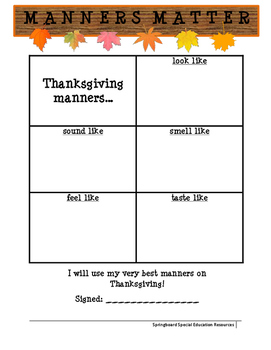Manners Matter: Thanksgiving