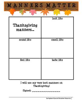 Manners Matter: Thanksgiving